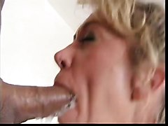 Mature with big tits gets two cocks
