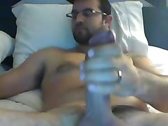 Married guy wanking on cam-happy ending