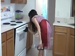 Milf Handjob In Kitchen