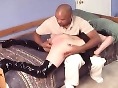 amateur with classes and rough sex from bald black man