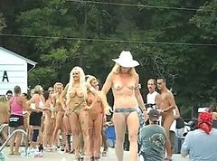Group of naked girls Ponderosa 2012