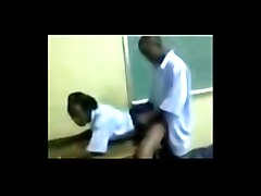 african students - doggie in the classroom