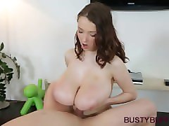 busty buffy gets rewarded with cumshot for titjob