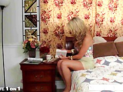 blonde housewife mia lelani gives titjob in pov