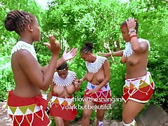 topless african girls with big boobs sing a song