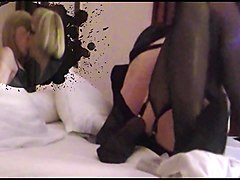 two french crossdresser kissing and fucking
