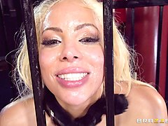 luna star is a stunning sex slave in a cage yearning for a dick