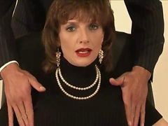 Mature British Slut Tied Up Blowjob Cumshot Action
