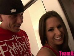 Rachel Roxxx Helps Guys Jizz Surprise Blonde Teen In The Bathroom