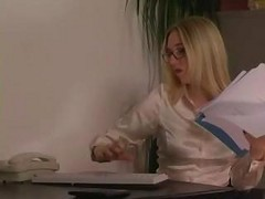 Domme Office Secretary In Stockings